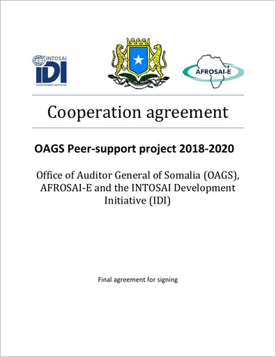 OAGS Peer-support project 2018-2020 Cover
