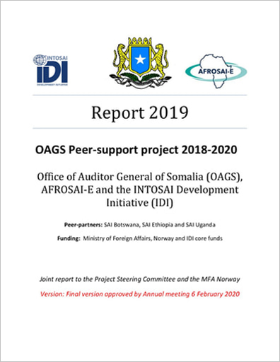 Office of the Auditor General of Somalia 2019 Peer-support project 2018-2020