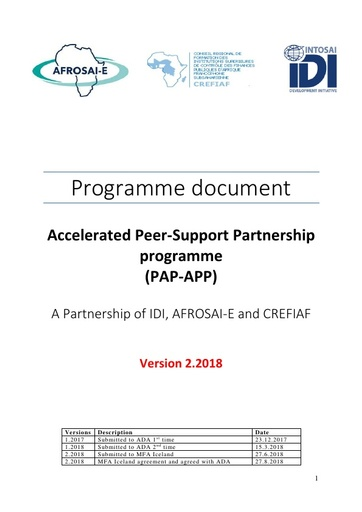 Programme document v 2.2018