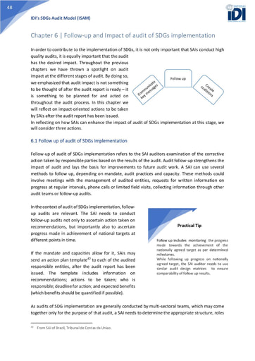 ISAM Chapter 6: Follow-up and Impact of audit of SDGs Implementation