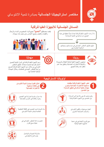 IDI Gender Strategy  infographic Arabic